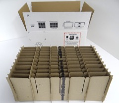 Standard 50 Cell Handset Shipper set