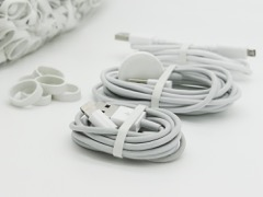 White Elastic Bands for mobile phon