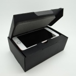 Black Textured one piece carton with foam fitting - Handset size 3